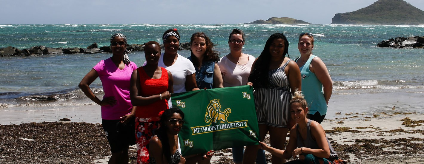Methodist University students study abroad in Saint Lucia