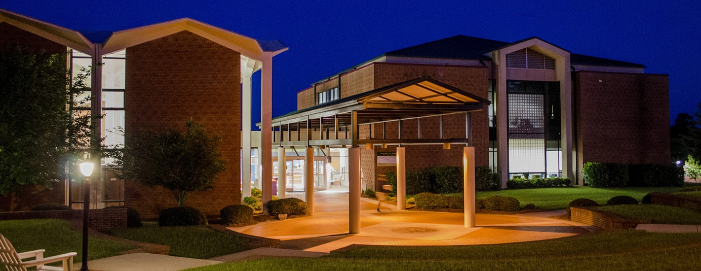 Davis Memorial Library at Night