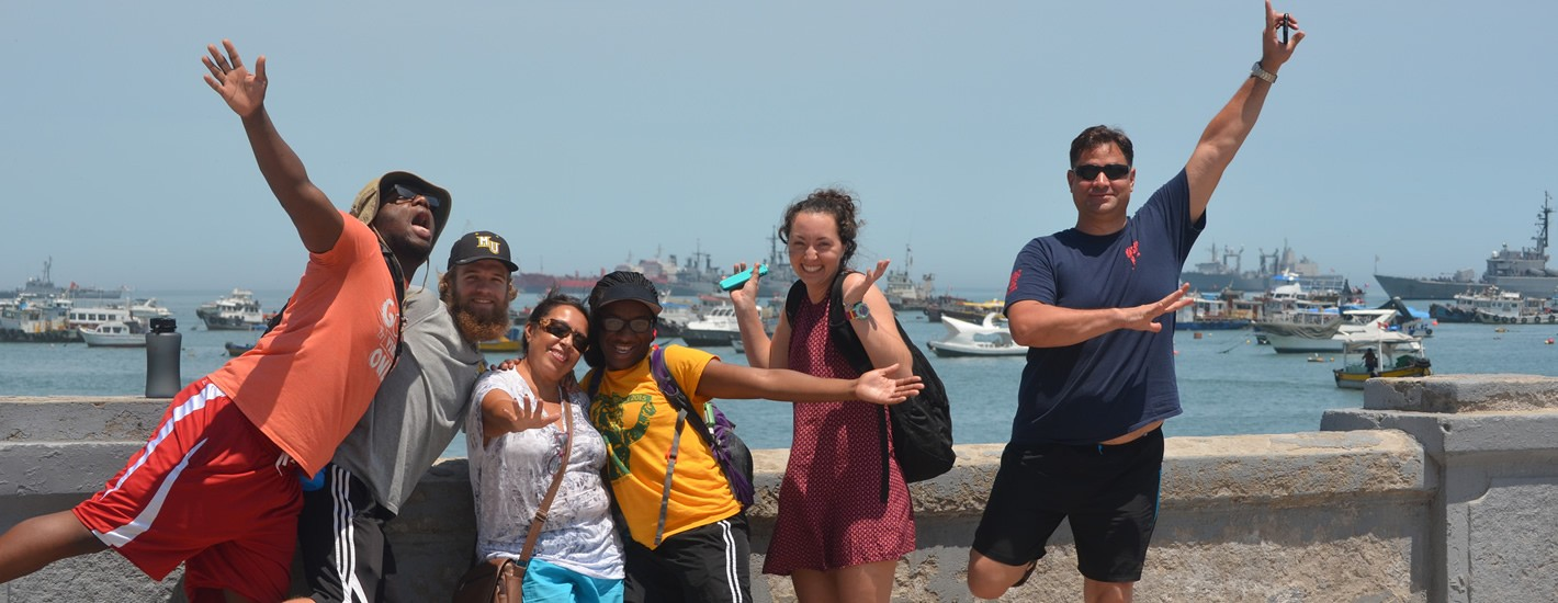 Study Abroad students having a great time