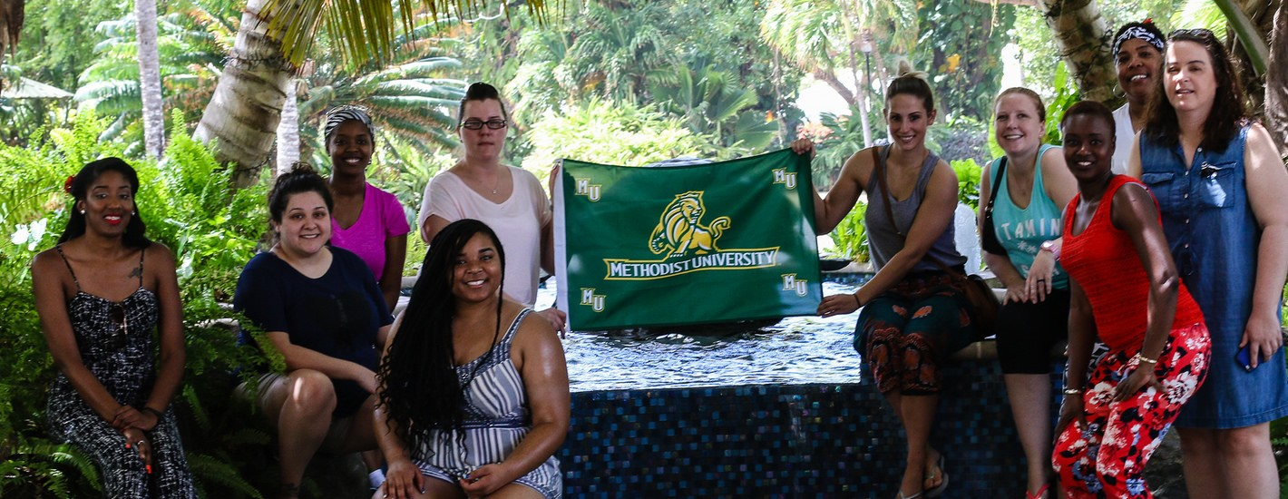 Students studying abroad in St. Lucia
