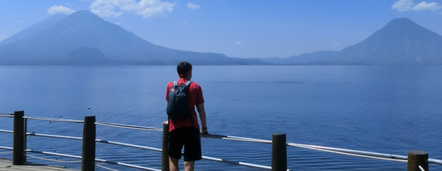 View of a student on a Study Abroad trip to Guatemala