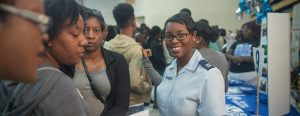 Student in the AFROTC Cooperative Program with Fayetteville State University (photograph courtesy of Fayetteville State University)
