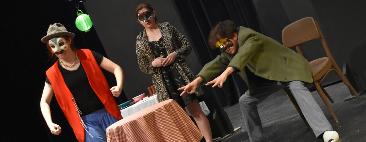 Students perform a work in progress.
