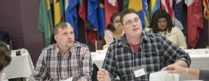 Political Science students participate in a crisis simulation