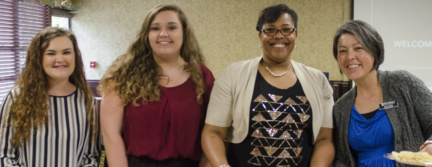 Social Work graduates attend a luncheon in their honor.