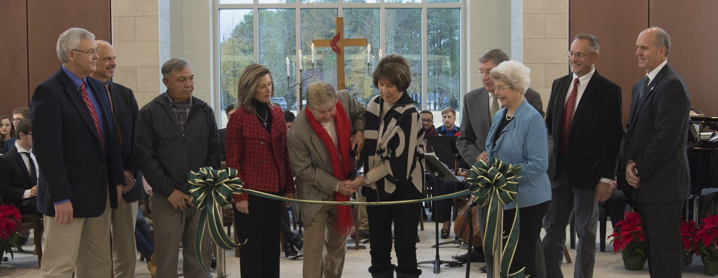 Ribbon Cutting ceremony for the Matthews Chapel