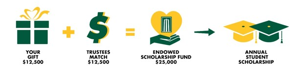 Flow chart of setting up an endowed scholarship