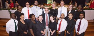 Professor Oz Hamzah poses with Resort & Club Management students