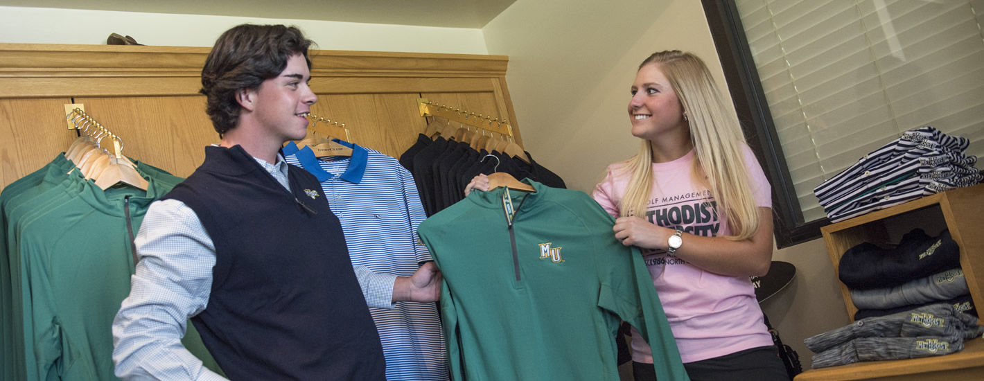 Students manage the MU Golf Shop