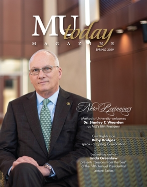 Cover of MU Today Spring 2019 Issue featuring Dr. Stan Wearden, President of Methodist University