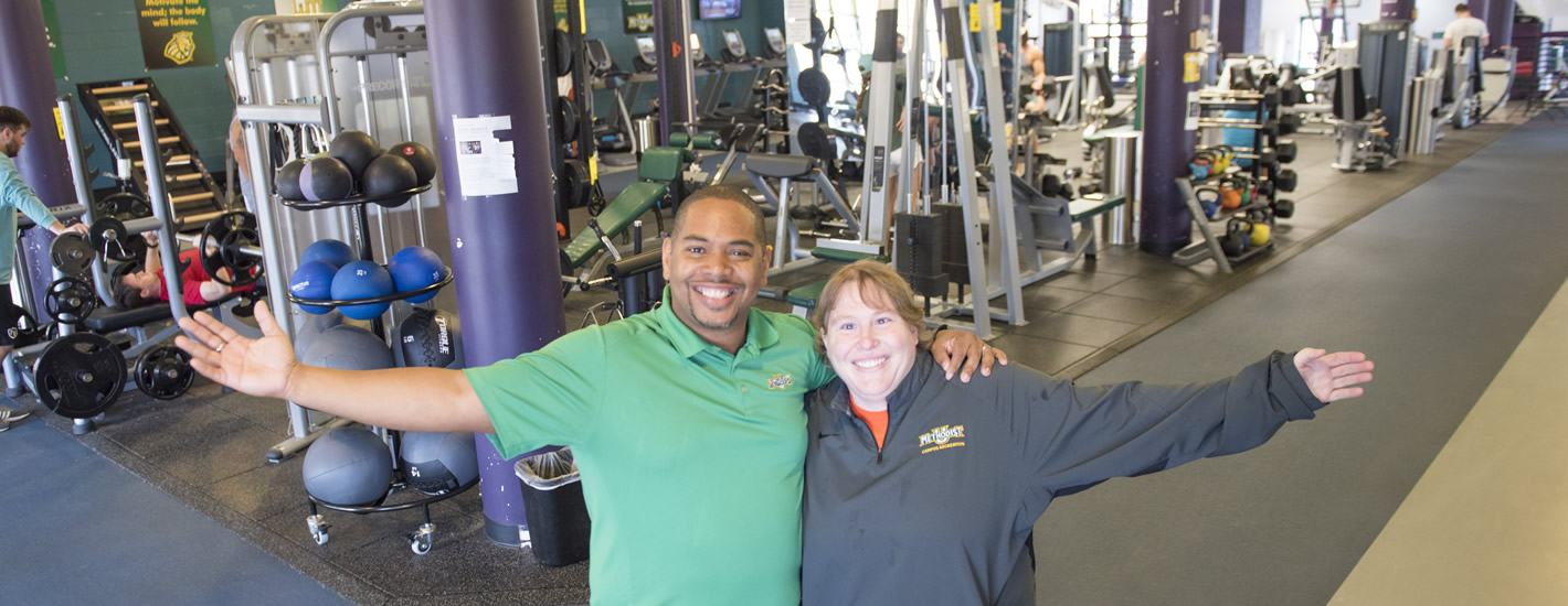 Cliff Bobbitt & Racheal Holler welcome you to the Nimocks Fitness Center