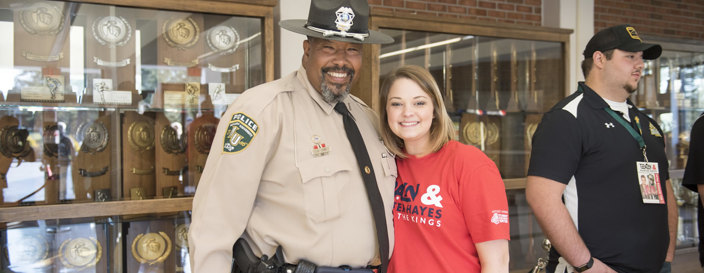 MU Police Officer and student