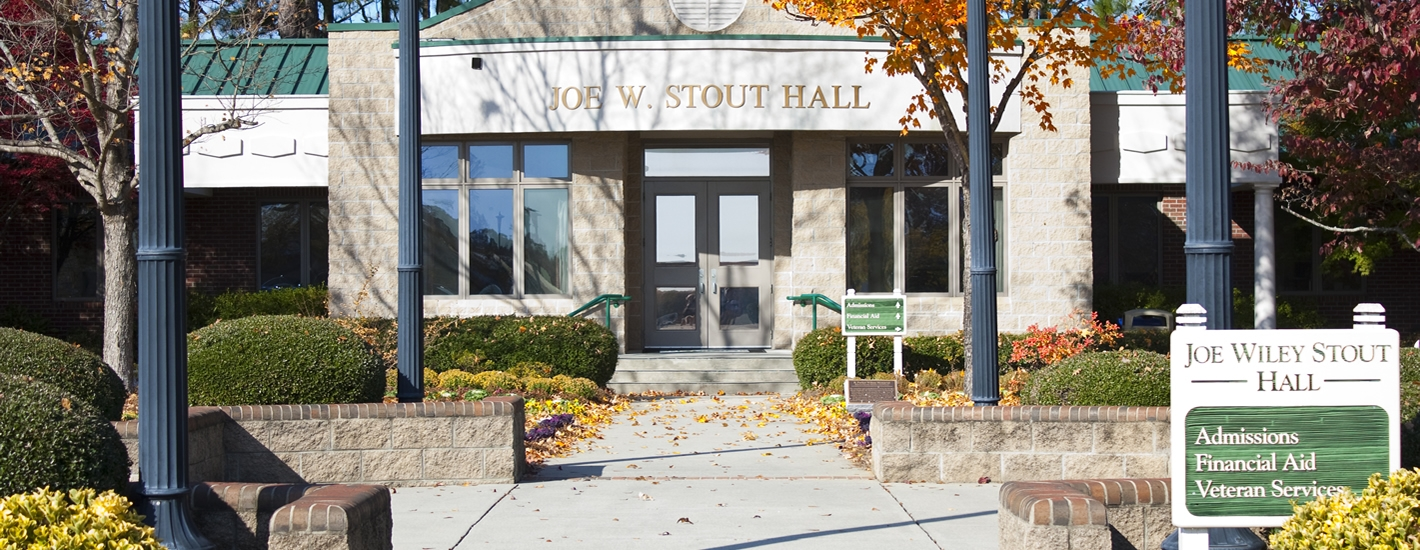 Stout Hall, the Home of Admissions & Financial Aid
