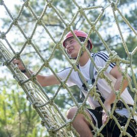 A participant in the Shelton Leadership Camp
