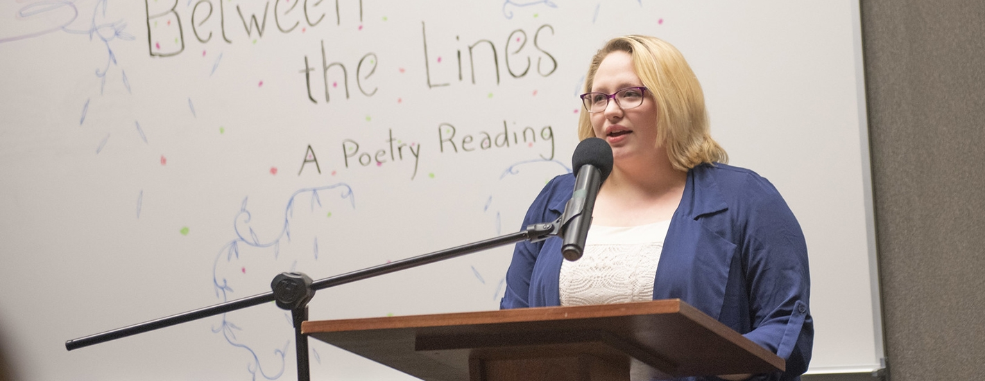 Student presents her poetry