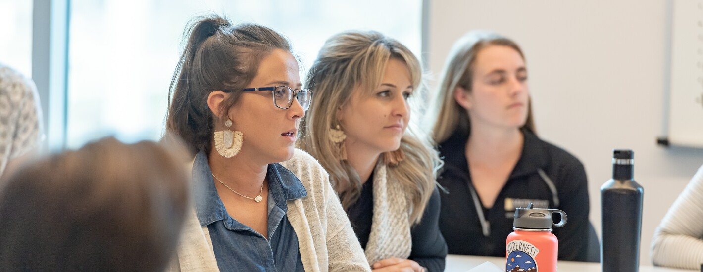 Occupational Therapy Students in the McLean Health Sciences Classroom