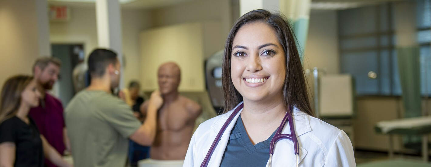 Physician Assistant Program student in a clinical rotation